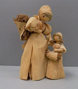 Two straw dolls