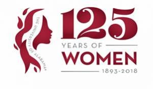 logo that says 125 Years of Women: 1893 - 2018