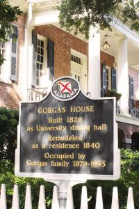 Gorgas House Museum sign